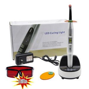 Dental Cordless LED Orthodontics Curing Whitening Lamp 12W 2700mw/c㎡ Metal US/EU