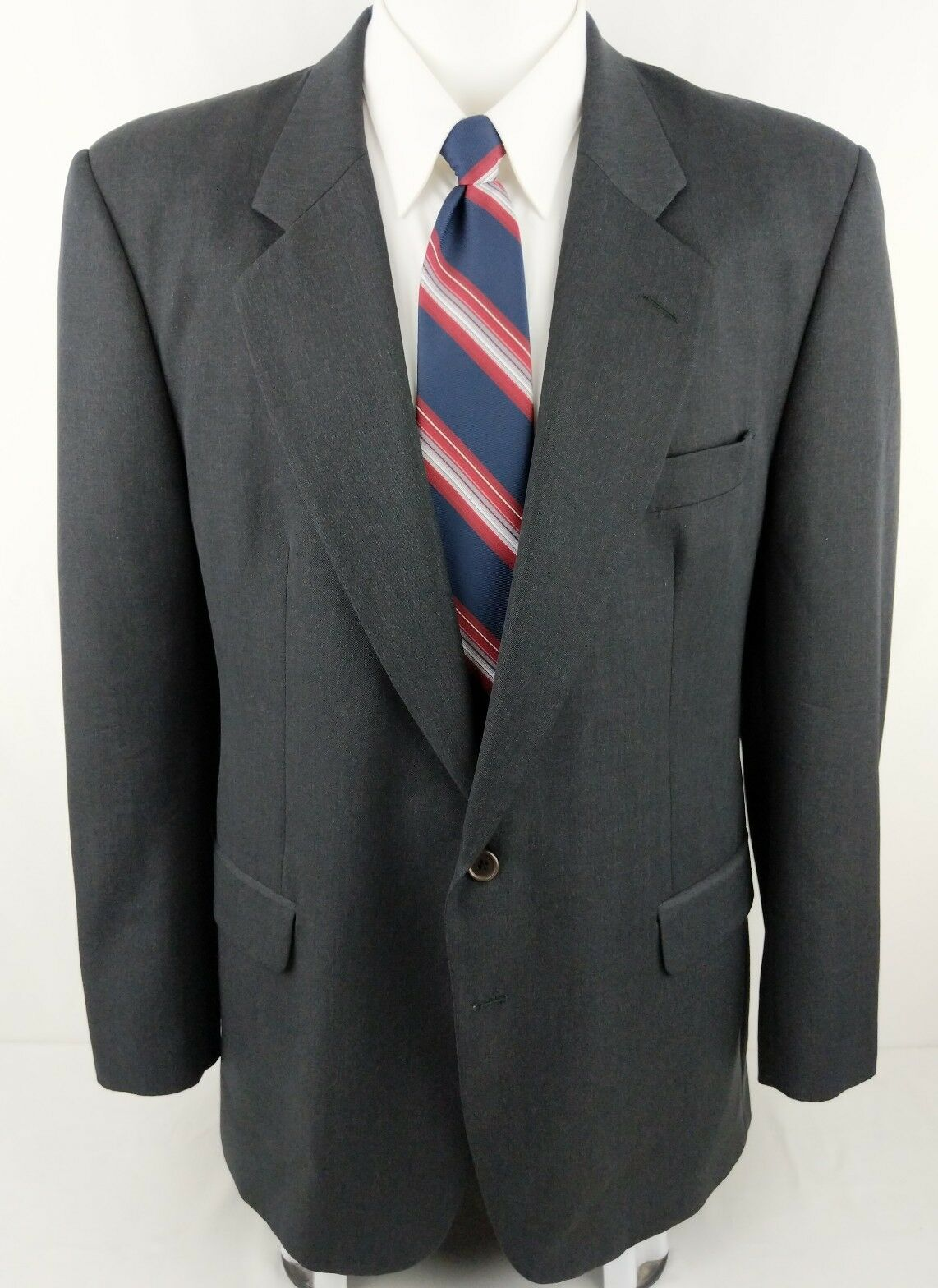 MANGAS Made to Measure Mens 54L EUR   44L USA Smokey Charcoal 2 Btn Lined Blazer