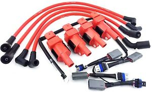 ignition coils mazda 10mm wires rx 8 rx8 adapter wiring harness rh ebay com