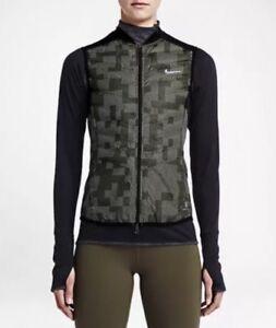 Activewear Jackets Clothing, Shoes & Accessories Punctual Nike Wmns Aeroloft 800 Flash Vest Gilet 689260-325 Black Reflective Size Xl New