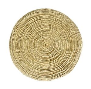 1 Inch Burlap Ribbon By The Roll. 50 Yards Jute Spool By Drency Ribbons Natural