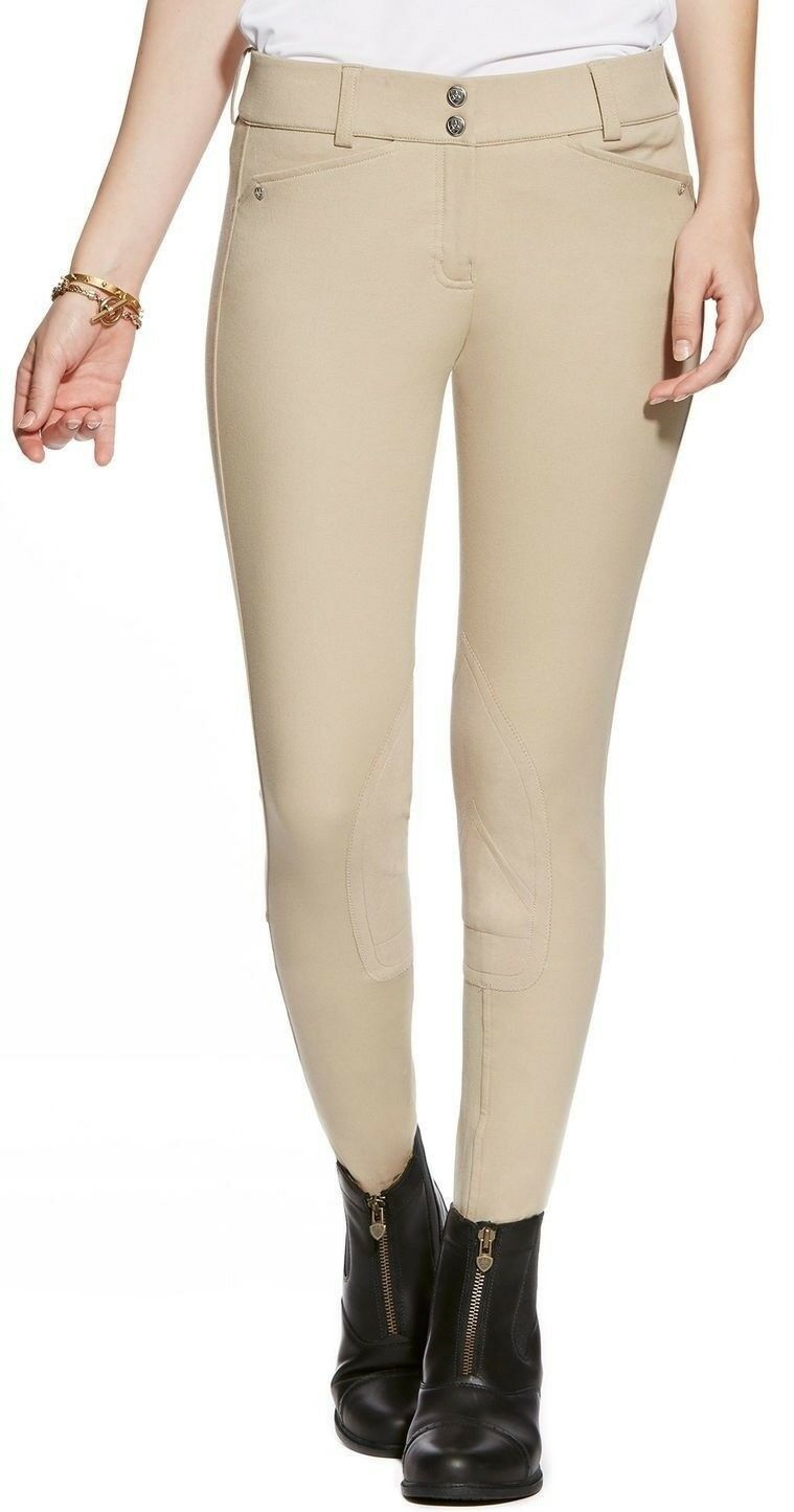 NEW Ariat Womens Heritage Low Full Zip Breech Four-Way Stretch Cotton Breathable