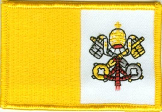 Aufnäher Vatikan Fahne Flagge Aufbügler Patch 8 x 5 cm