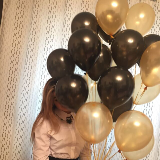 "30//40//50 PK Black And Gold Pack of 10/"" Birthday Latex Balloons Party Decorations"