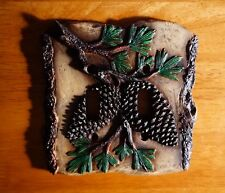 PINE CONE DOUBLE TOGGLE LIGHT SWITCH PLATE COVER SWITCHPLATE LODGE CABIN DECOR