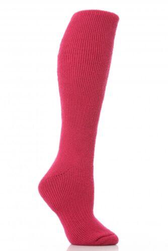 Véritable chaleur détenteursmesdames long chaussettes thermiques 12 couleursUK4-8 EU37-42