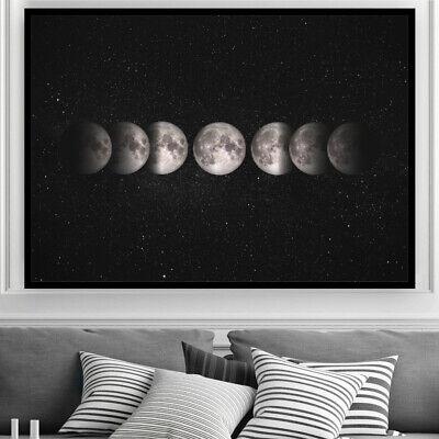 """MOON Wall Art /""""LUNA/"""" Bedroom Art Photograph Illustration Print PosterA4 A3 A2 A1"""