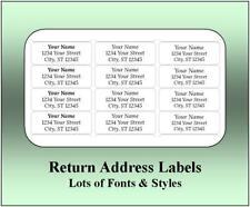 Return Address Labels Mini Sheets 15 Fonts 3 Sizes Free Shipping