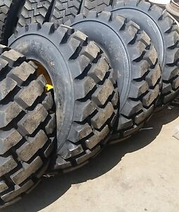 Details About 4 Tires With Wheels John Deere Model Skid Steer Tire Size 14 17 5 L5 14175