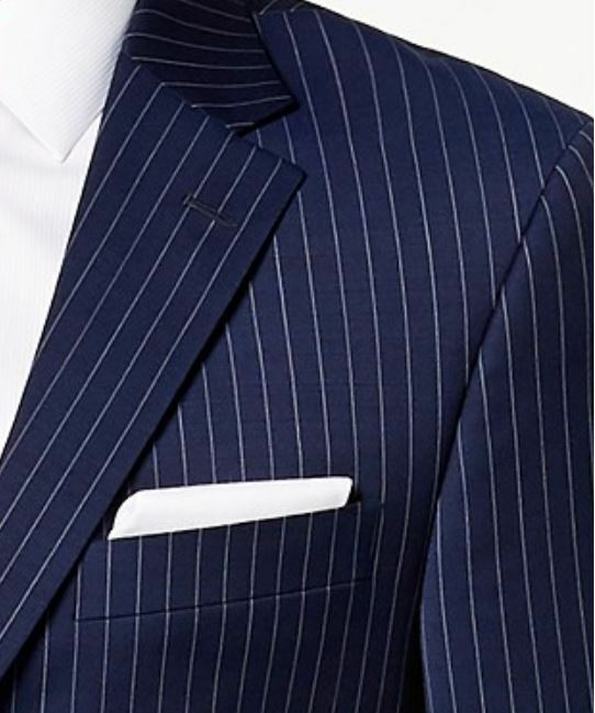 Tommy Hilfiger Blazer Men  Wool Suit  Größe 43R Pants 36X32 Navy Blau Pinstripe