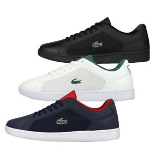 Lacoste-Mens-Endliner-Lace-Up-Active-Gym-Black-Navy-White-Lo-Top-Trainers