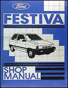 1988 ford festiva shop manual original 88 l lx repair service book rh ebay com ford festiva manual transmission ford festiva manual transmission oil
