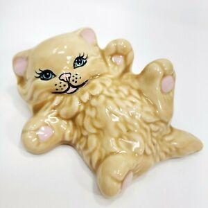 Vintage-Persian-Kitty-Cat-Statue-Ceramic-Figurine