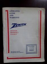 zenith system 3 color television ebay rh ebay com Zenith Space Command System 3 Zenith System 3 Console