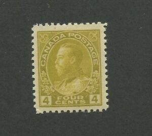 Canada 1922 King George V Admiral Issue Very Fine 4c Stamp #110 CV $80