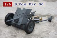 German Ww Ii 37mm Pak 36 Gun 1/6 Scale Uk 46 Cm Long