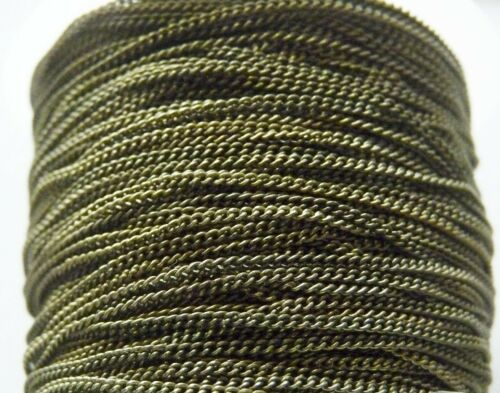 1M Brass Cuban Curb Link Chain for Necklaces Bracelets 3.3 feet Bronze 1.5mm