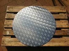 Aluminium Riffelblech Ronde 3,5/5mm quintett Rund 800mm/Schacht/Brunnenabdeckung