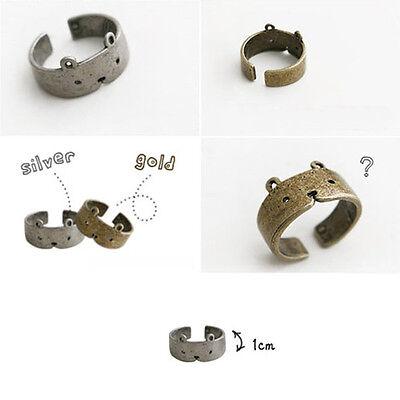 1Pc Fashion Amazing Retro Cute Bear Women Girl Adjustable Ring Jewelry
