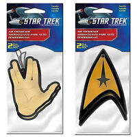 Star Trek Vulcan & Delta 2 Pack Air Freshener Plasticolor Car Truck Suv