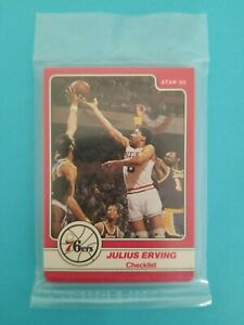 1985-Star-JULIUS-ERVING-034-DR-J-034-FACTORY-SEALED-COMPLETE-SET-OF-18-CARDS