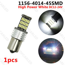 1 X 1156 4014LED 45SMD 15W BA15S White P21W High Power Tail Brake Signal Ligts