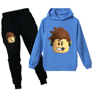 2pcs Anime Cartoon Roblox Spring Autumn Sweatshirt Hoodie Boy T