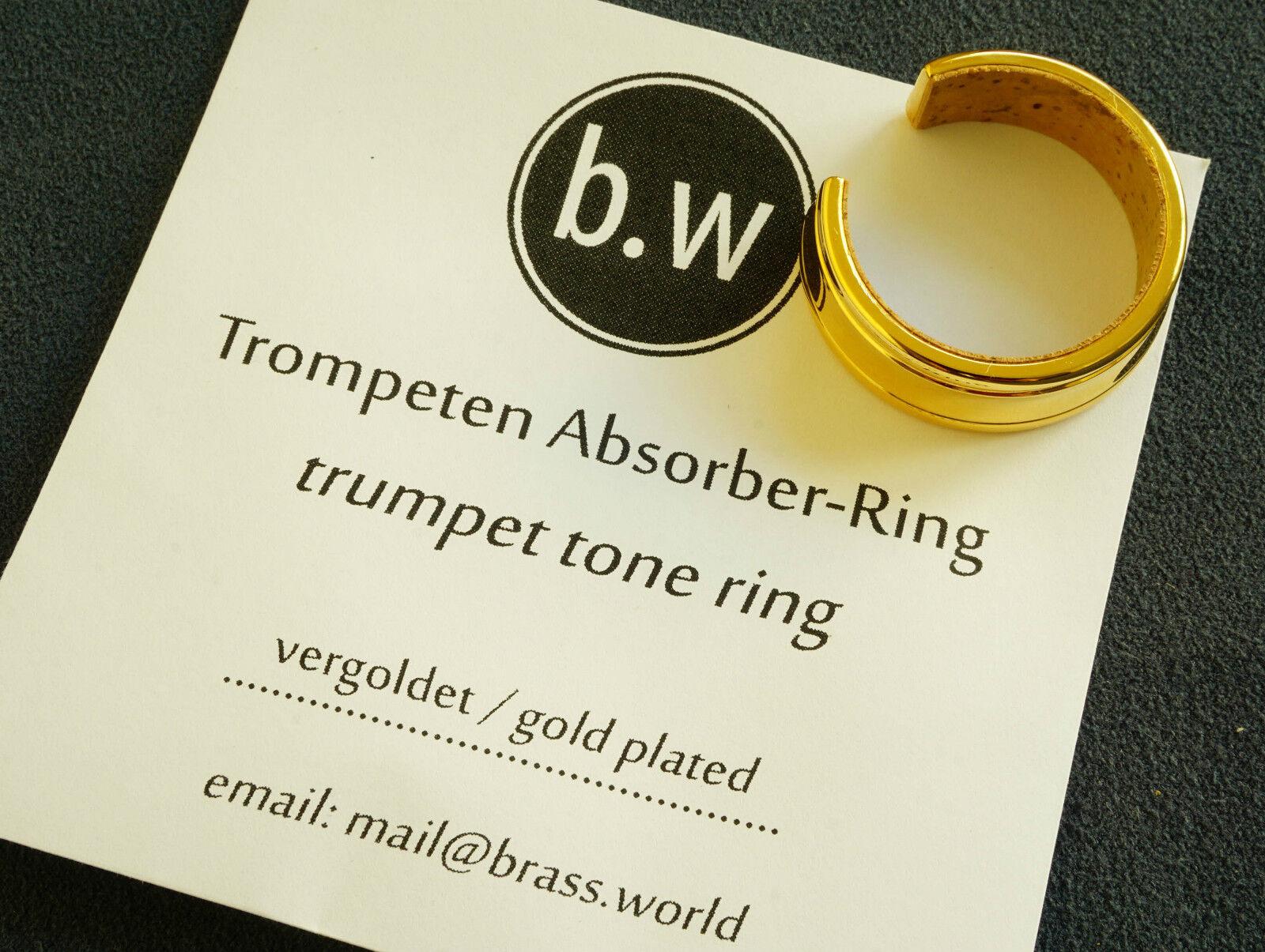 Absorber-Ring Tonring für Trompeten und Flügelhörner -verGoldet-