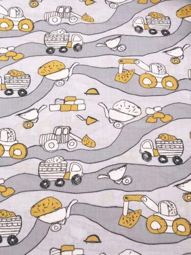 Baumwollstoff Kinderstoff Bagger Baustelle Breite 160cm *ab 50cm*