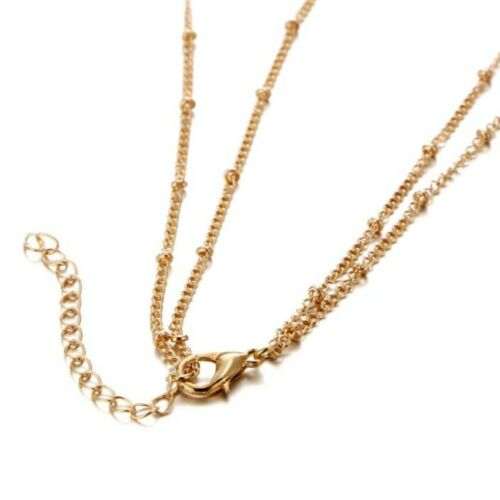 Boho Style Layer Chain /& 2 Color Silver Gold Y Shape Pendant /& Womens Necklace