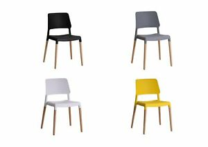 Image Is Loading 2 X Lpd Riva Modern Plastic Dining Chairs