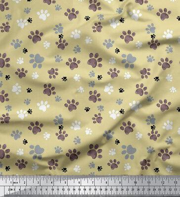 DG-529M Soimoi Fabric Cute Puppy Dog Print Fabric by Meter