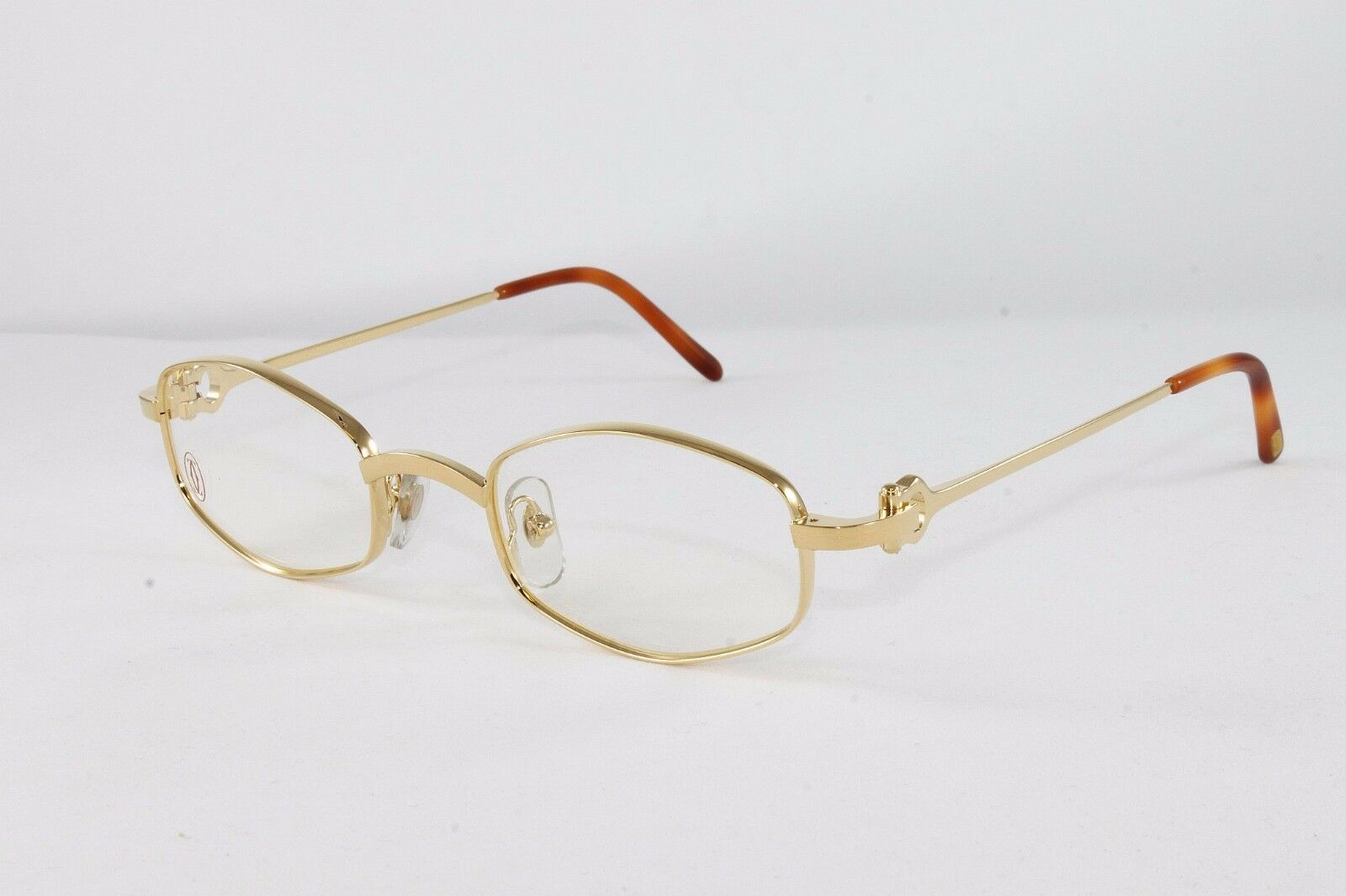 Cartier OCTAGON Gold Eyeglasses T8100426 Frames Authentic France 48 ...
