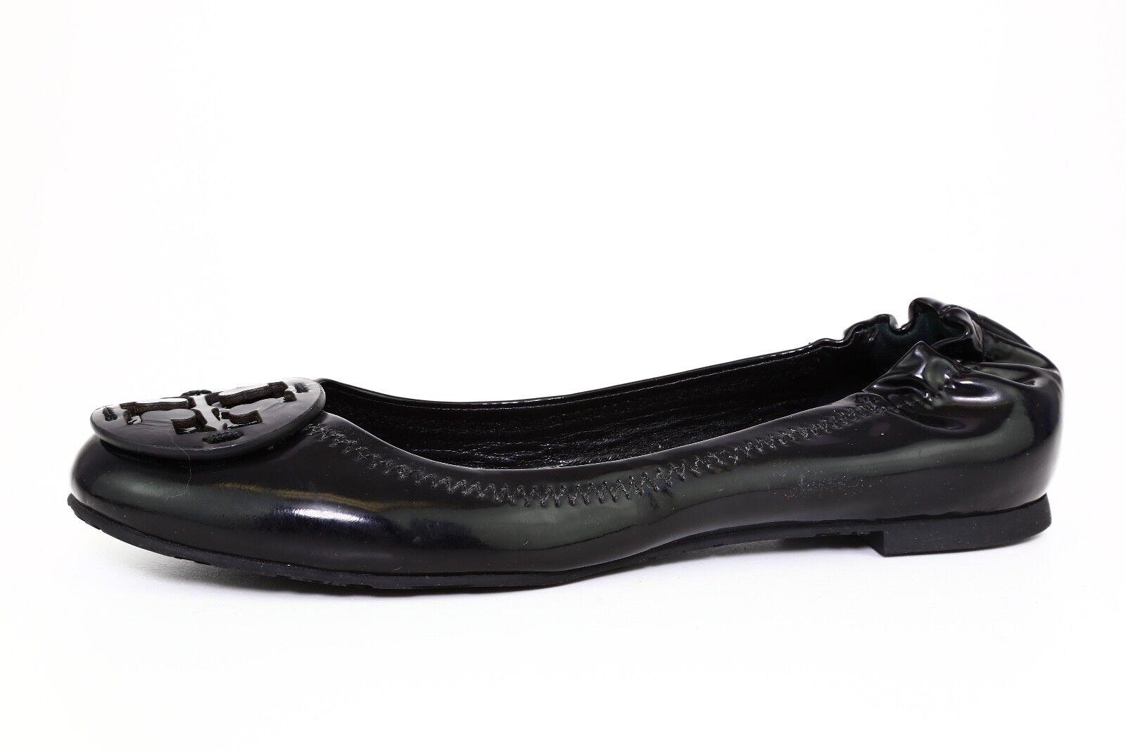 Tory Burch Reva Patent Leather Ballet Flats Black Women Sz 5.5 M 3644