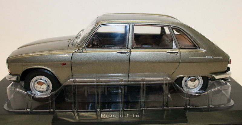 Norev 1 18 Scale - Renault 16 1968 Grey Metallic Diecast Model Car
