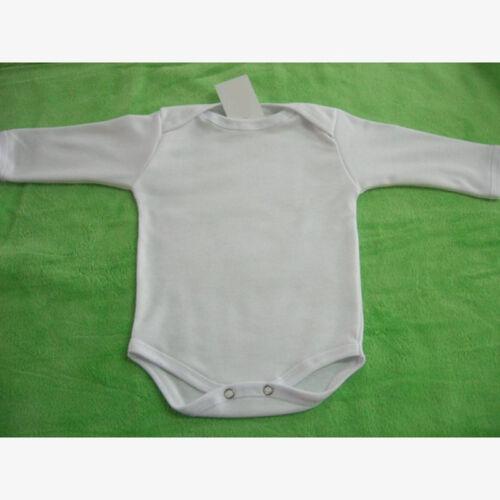 taille 56 62 68 74 80 Baptême coton neuf naissance Cadeau Manches longues bébé body blanc