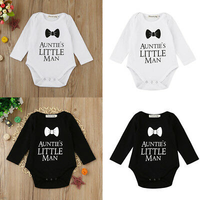 Trendy Newborn Toddler Baby Boy Girl Letter Bowknot Romper Jumpsuit Fashion Cool