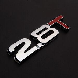 Details About Metal Chrome 2 8t 8 Turbo Car Sticker Rear Trunk Per Emblem Badge Decal