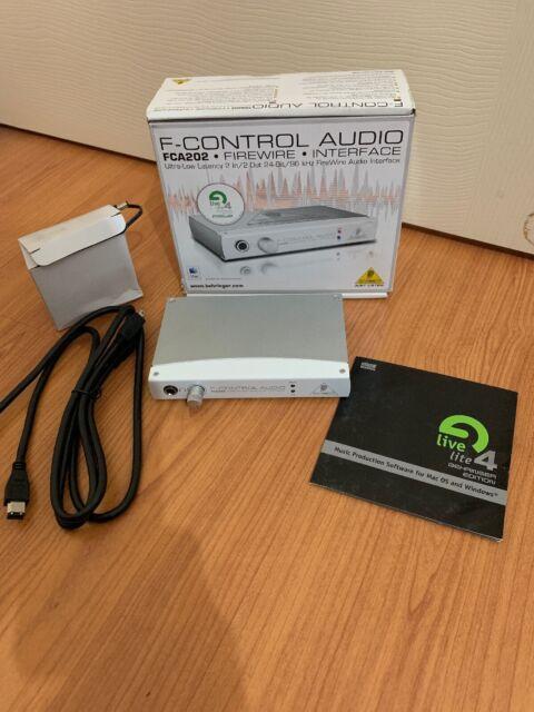 Behringer F-Control Audio FCA202 FireWire 24-Bit Audio Interface For Mac & PC