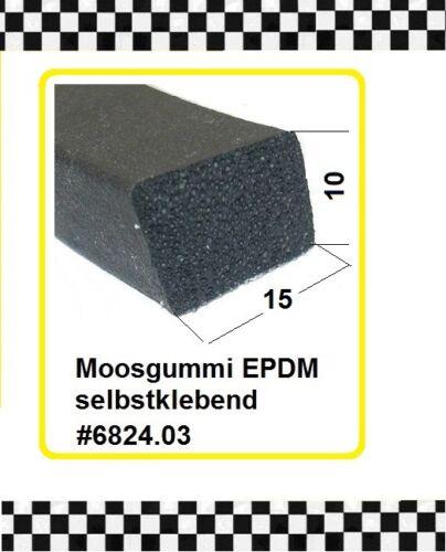 4,5m Moosgummi € 4,75//m Gummidichtung selbstklebend 15x10mm 6824.03 aus BERLIN