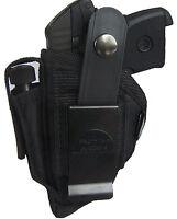 Gun Holster Fits Taurus Pt22 Pro-tech Belt Holster Black Nylon Owb