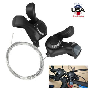 SL-TX30 3//6//7//18//21 Speed MTB Mountain Bike Thumb Gear Shift Lever Set USA