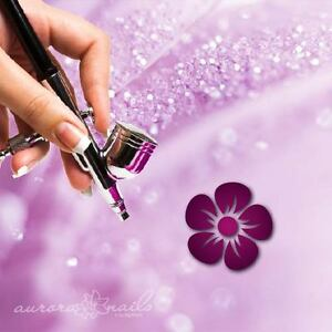 Airbrush-sticky-templates-B065-NAILART-96-Piece-Flowers-Leaves