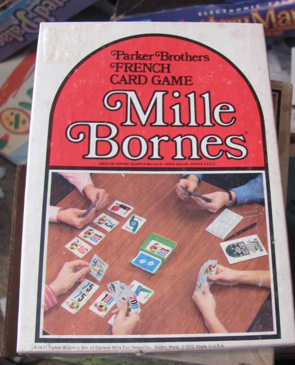 Mille Bornes Parker Bredhers 1970s version COMPLETE great condition