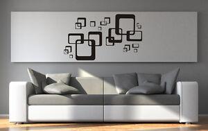 wandtattoo aufkleber wohnzimmer retro cubes quadrate ornamente gr ...