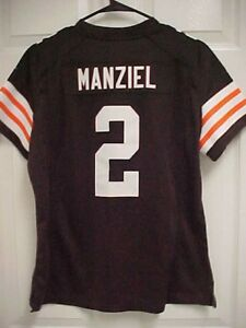 Details about JOHNNY MANZIEL 2 Cleveland Browns Women Sewn Stitch Football Jersey L Nike New