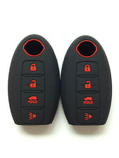 2pcs Fob Black/red words Key Cover for Nissan Murano Altima Versa 350Z 370Z GT-R