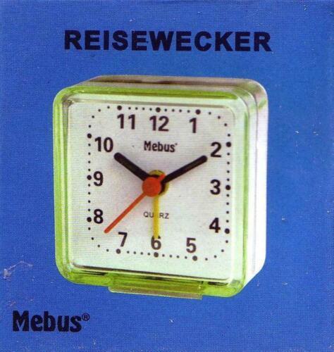 Mebus mini Reisewecker Quarzwecker analog 8107 grün