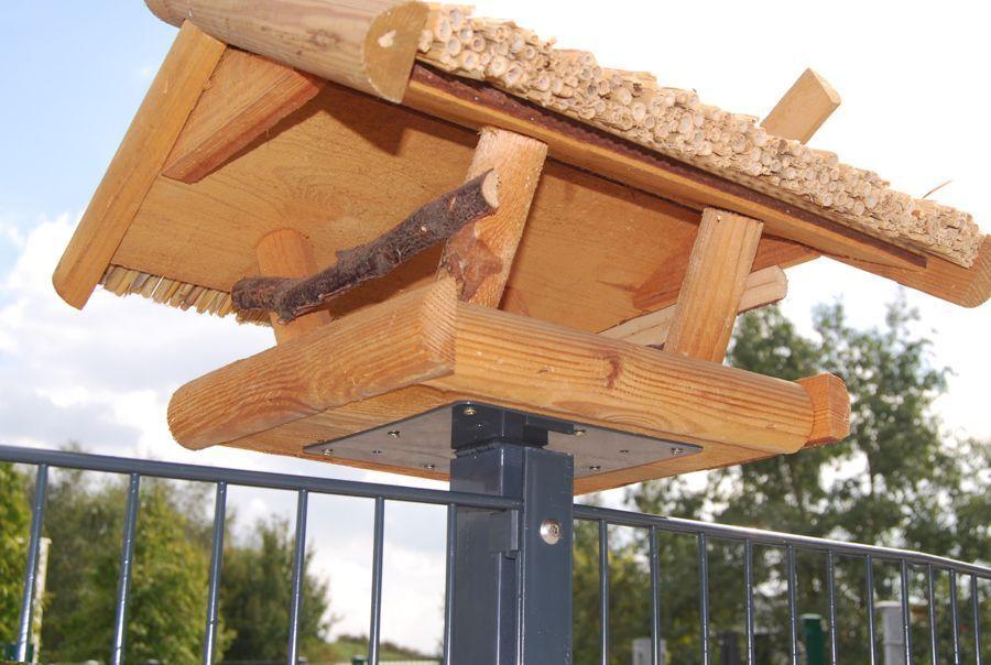 Vogelhaus Vogehlauhausständer Vogelhausplatte für Zaunpfosten 60x40mm Gartenzaun