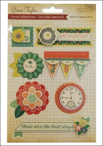 Grace Taylor Eclectic Emerald Grand Adhesions great for cards and crafts